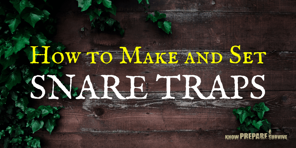 How to Make and Set Snare Traps