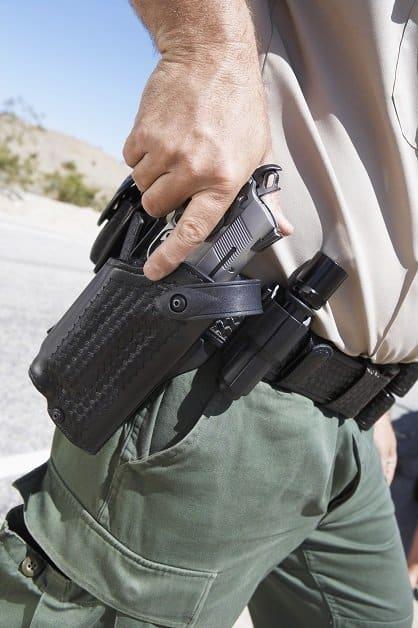 Self defense skill practice draw from holster fine gross motor skills