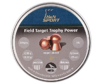 Copper plated jacket airgun pellets reduce lead fouling more consistent performance