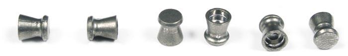 Crosman wadcutter pellets for punching clean holes in target paper